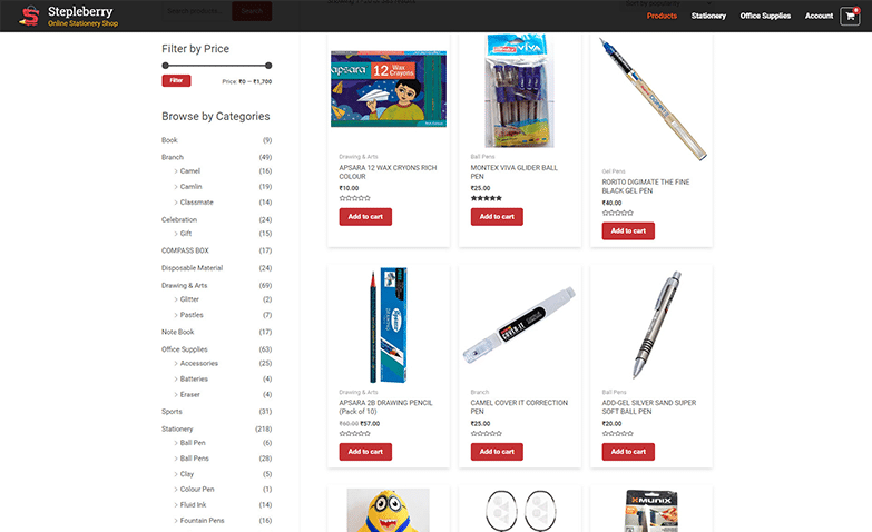 Stationery-ecommerce-website
