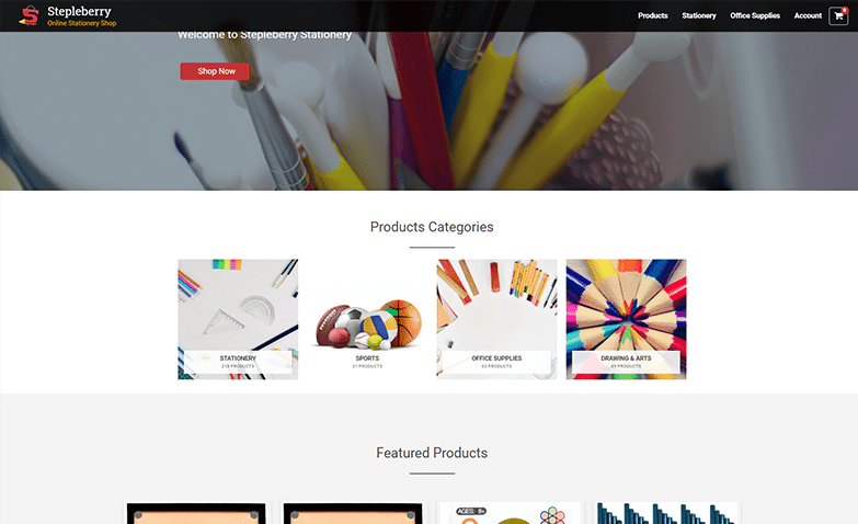 Stationery eCommerce-website